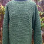 Retstrikket sweater strikket i Shetlandsuld. Foto: Marianne Porsborg