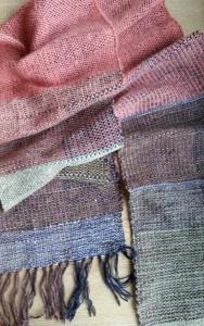 Vævet tørklæde af Astrid Skibsted hos Doggerland Design