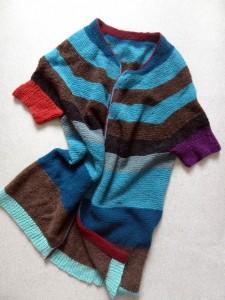 Trøje designet af Astrid Skibsted i islandsk uld