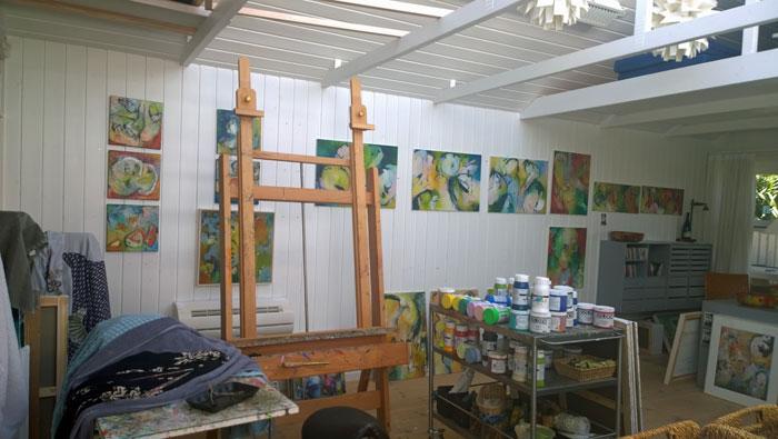 Lene Lundgaards atelier. Foto: Marianne Porsborg