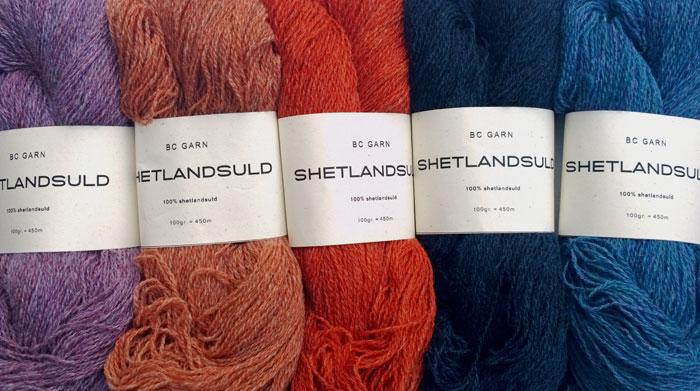 Shetlandsuld fra BC Garn. Foto: Doggerland Design