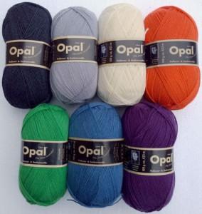 OPAL UNI uld strømpegarn. Foto: Marianne Porsborg