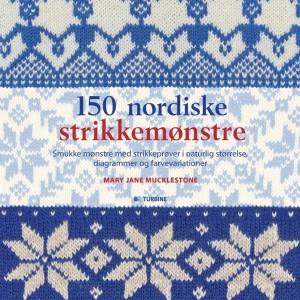 Hele 150 nordiske strikkemønstre, får du i denne flotte bog. Pris kr. 249,95