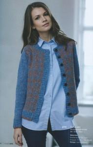 Opskrift 211: Trøje/cardigan med mosaikmønster, der strikkes i Shetlandsuld fra BC Garn. Design: Sanne Fjalland. Foto: Kreativ Strik