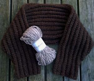 Garnkit med gratis opskrift til vamset og lækker bolero, som strikkes i Bulkylopi. Design og foto: Marianne Porsborg