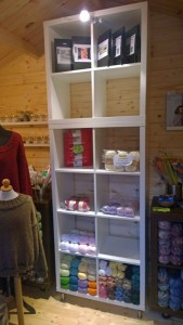 Garnhytten - Jægerspris lille garnbutik, ved Doggerland Design. Foto: Marianne Porsborg