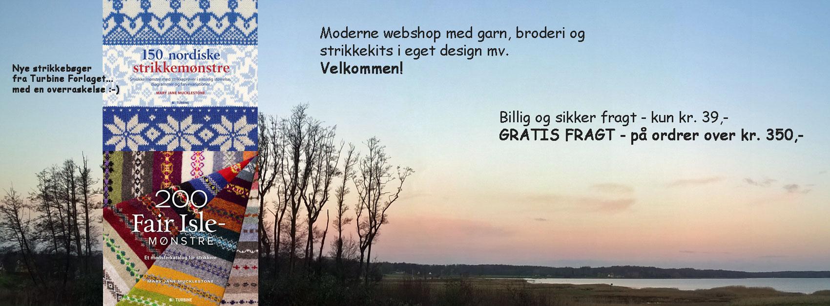 Foto: Doggerland Design ved Marianne Porsborg websalg af garn, kits og KA pinde mv.