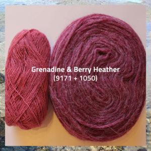 Dobbelt islandsk uld fra Istex, spindegarn og pladegarn sammen, til nem babystrik, sweateren Una fra Doggerland Design