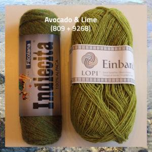 Indiecita alpaka garn og Einband islandsk uld, til strik af Caitlin garnkit fra Doggerland Design