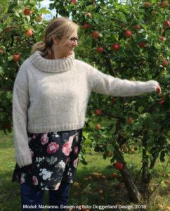 Blathnat strikkekit med garn og opskrift til sweater i to slags islandsk uld