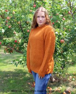 Strikkekit garn og opskrift, til sweater i retrillestrik og islandsk uldgarn. Foto og design, Marianne Damgaard Porsborg