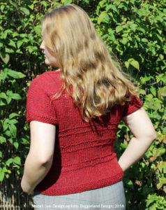 Garnkit med opskrift til strik af Caitlin uldbluse, alpaka og islandsk uldgarn. Doggerland Design