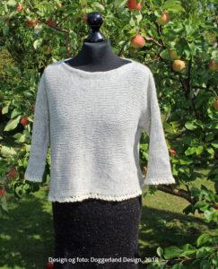 Damestrik, kit med garn og opskrift, alpaka og uld, model Etain fra Doggerland Design