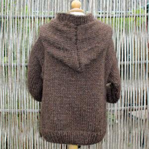 Anorak med kængurulomme, strikkes i Bulkylopi islandsk uld, garnkit Kelly 2, online i shoppen