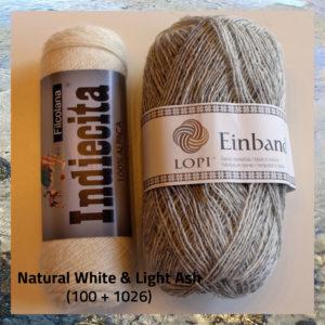 100% alpaka og 100% islandsk uld, strikkes sammen i dameblusen Etain fra Doggerland Design