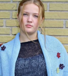 Alpaka sjal, garn og opskrift, damestrik, designer strik