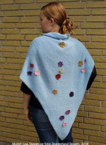 Alpaka sjal, designer strik, garn og opskrift i pakke, Shea kit