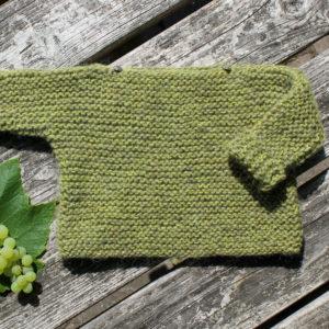 Baby og børne sweater, garn og opskrift til strik af børnetøj, kit fra Doggerland Design