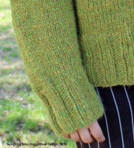 Sorcha rullekravesweater, pakke med garn og strikkeopskrift, fra Doggerland Design