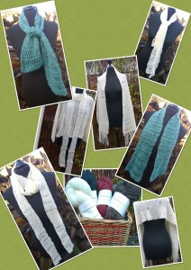 Gratis strikkeopskrift på nemme, smarte tørklæder fra Doggerland Design